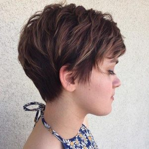 The Feathered Pixie Cut